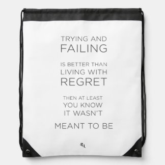 Life Quote Drawstring bag