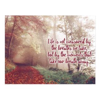 Life Quote postcard