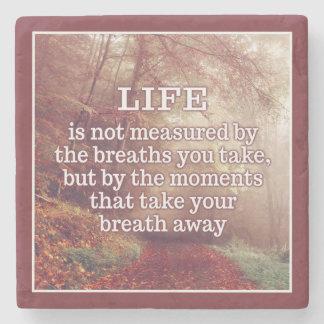 Life Quote stone coasters