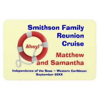 Life Ring Family Cruise Cabin Door Marker Rectangular Photo Magnet