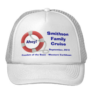 Life Ring Personalized Cruise Cap Trucker Hat