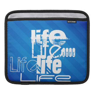 Life; Royal Blue Stripes Sleeve For iPads