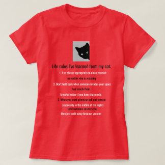 Life rules from a cat shirt