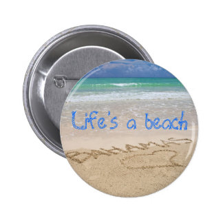Life's a beach 6 cm round badge