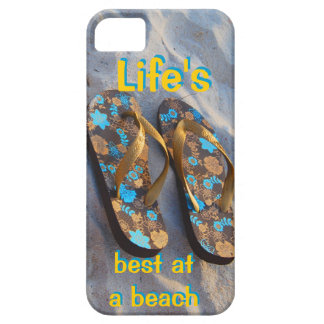 Life s Best at a Beach iPhone Flip Flops iPhone 5 Cover