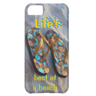 Life s Best at a Beach iPhone Flip Flops iPhone 5C Cases