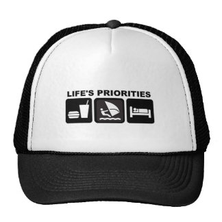 Life s Priorities Windsurfing Mesh Hats