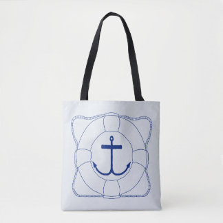 Life Saver & Anchor Tote Bag (Dark Print)