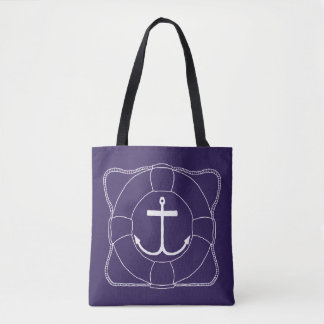 Life Saver & Anchor Tote Bag (Light Print)