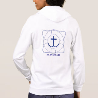 Life Saver/Anchor Women's Hoodie (Dark Print)