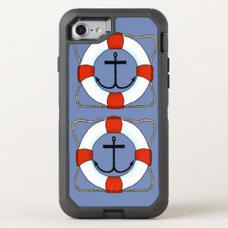 Life Saver and Anchor Boating Otterbox Cell Phone OtterBox Defender iPhone 7 Case