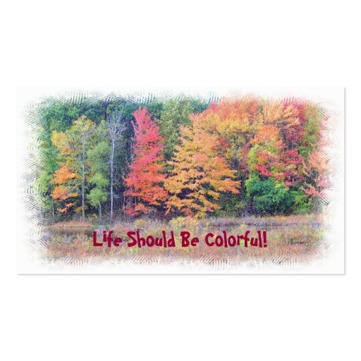 """""""LIFE SHOULD BE COLORFUL"""" CUSTOMIZABLE BUSINESS CA BUSINESS CARDS"""
