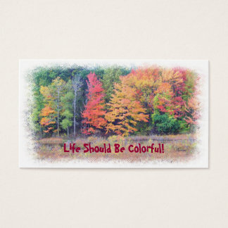 """LIFE SHOULD BE COLORFUL"" CUSTOMIZABLE BUSINESS CA BUSINESS CARD"