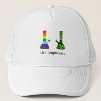 Life Simplicidad Rainbow Cheeba Bongs Trucker Hat