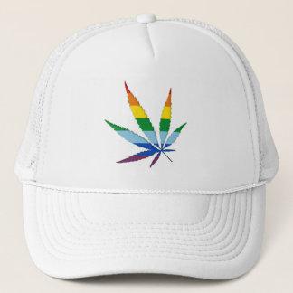 Life Simplicidad Rainbow Leaf Trucker Hat