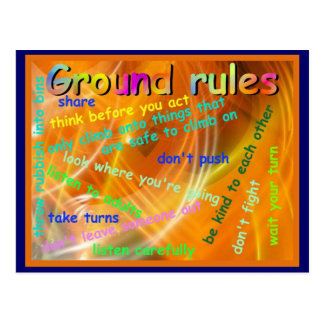 Life Skills, Citizenship, Ground Rules Postcard