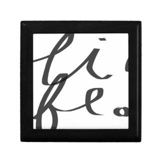 Life Small Square Gift Box