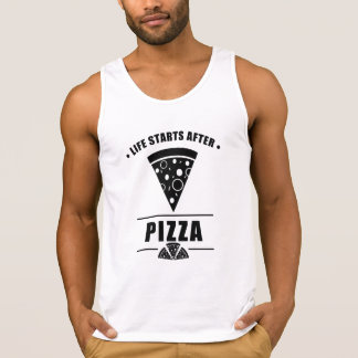 Life Starts After PIZZA Singlet