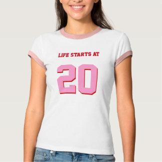 Life Starts At 20 Funny 20th Birthday T-Shirt