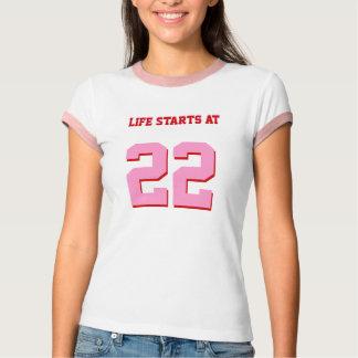 Life Starts At 22 Funny 22nd Birthday T-Shirt