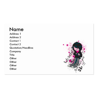 life stinks emo kid business card