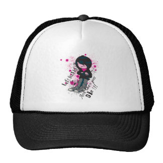 life stinks emo kid trucker hats