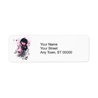 life stinks emo kid return address label