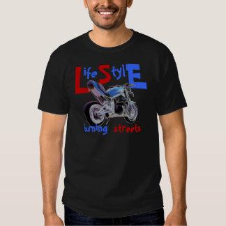 Life Style - burning streets T Shirts