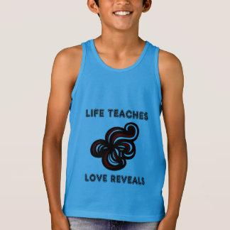 """Life Teaches, Love Reveals"" Boys' Tanktop Singlet"