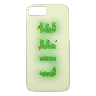 Life Text Green Leaves iPhone 7 Case