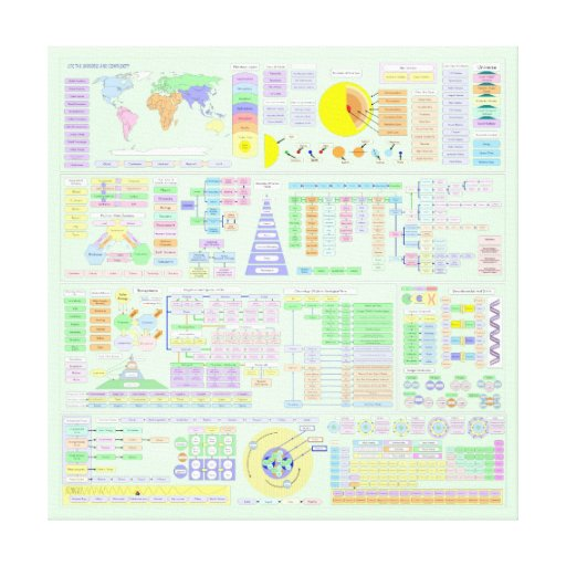 LIFE THE UNIVERSE AND COMPLEXITY CHART GALLERY WRAPPED CANVAS