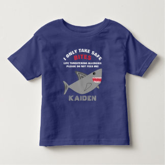 Life Threatening Food Allergy Alert Shark Shirt