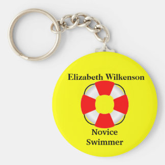 Life Vest Attachment-Name-Swim Skill Key Ring