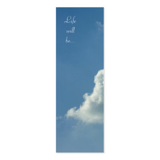 Life will be... Job 11;17 - Bookmark Business Card