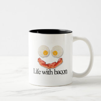 Life with Bacon Two-Tone Coffee Mug