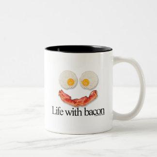 Life with Bacon Two-Tone Mug