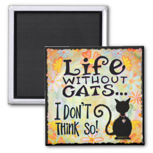 Life With Cats Magnet