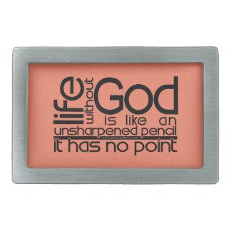 Life Without God... Belt Buckle
