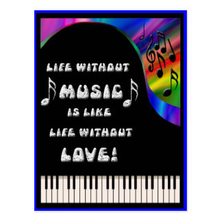 life without music postcard