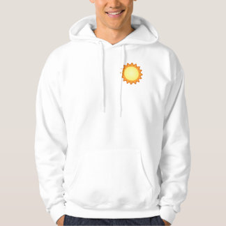 Life Works! Men's white Hooded Sweatshirt