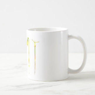 Lifecycle germination bean on white for education coffee mug