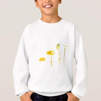 Lifecycle germination bean on white for education sweatshirt
