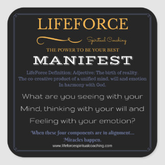 LifeForce Stickers 20PK: MANIFEST
