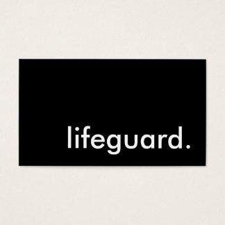 lifeguard. business card