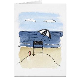 Lifeguard Chair on the Beach Notecards Card