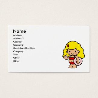 Lifeguard girl business card