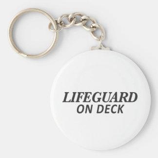 Lifeguard on Deck Print Key Ring