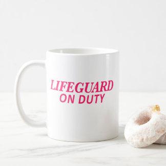 Lifeguard on Duty Print Pink Coffee Mug