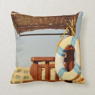 Lifeguard seat throw pillow