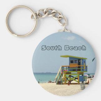 Lifeguard Shack Basic Round Button Keychain